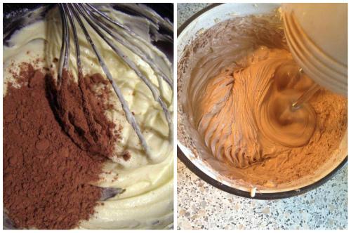 Выравнивание торта взбитыми сливками
