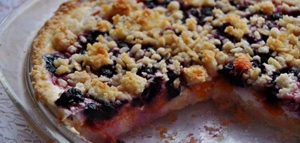 Пирог с ягодами и сметанной заливкой рецепт пошагово